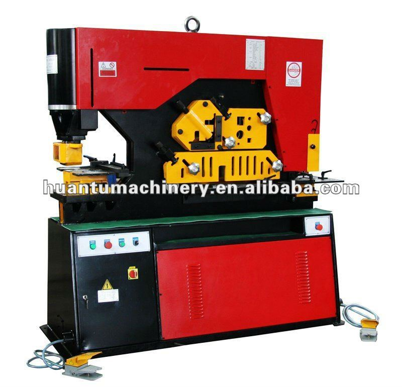 Q35Y Series flat bar punching machine, heavy duty angle iron, swing stage