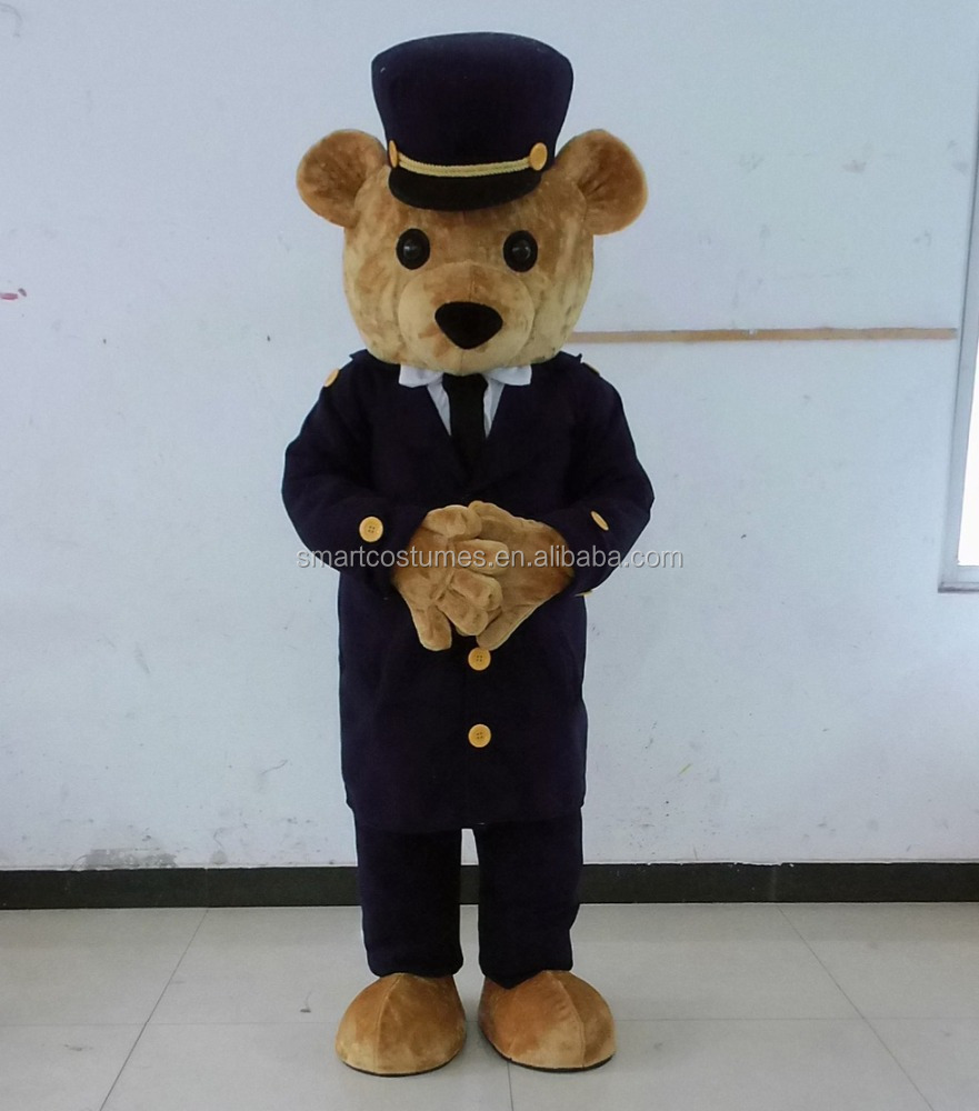Cute brown bear mascot costume for adults