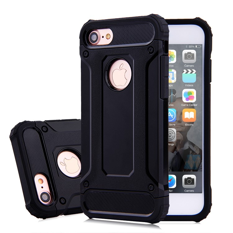 Dual Armor Hybrid Protective Shell Back Cover Case for iPhone 7, for iPhone 7 Plus Case