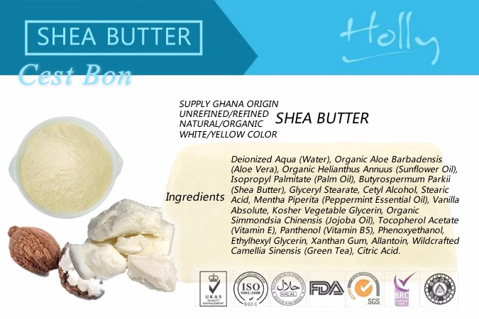 100% natural Unrefined Ghana shea butter white yellow 25kg carton west africa