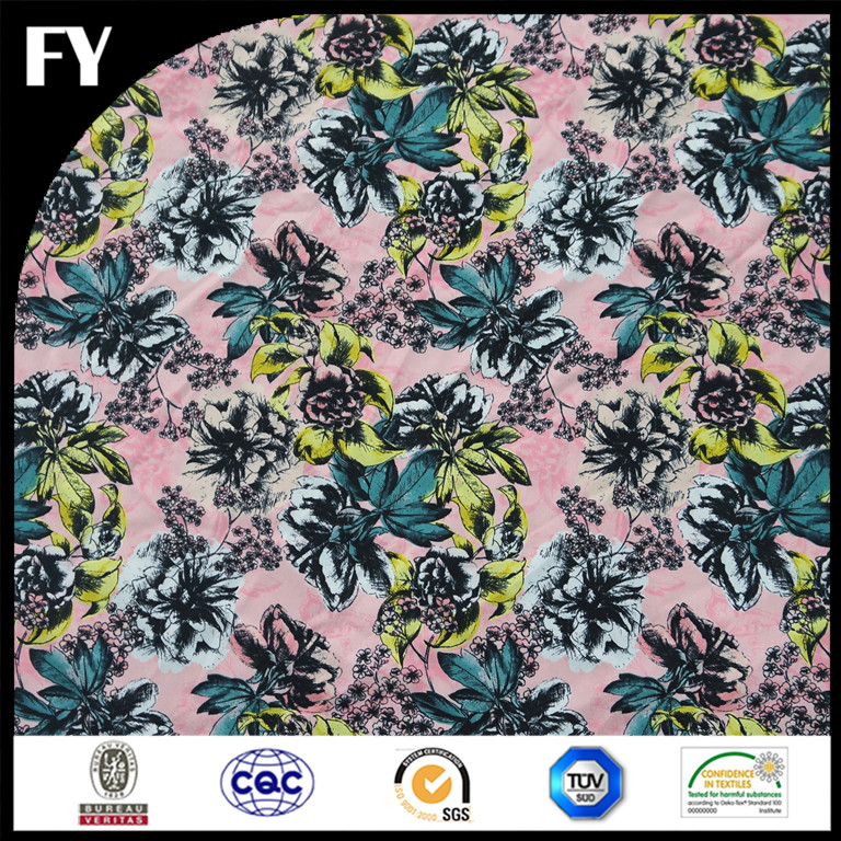 Custom Textile Printing Digital Woven Style Polyester for Beach Dresses and Kimonos