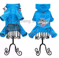 High quality pet raincoat hot sale dog raincoat fashion blue rain coat pet waterproof comfortable raincoat for small dog
