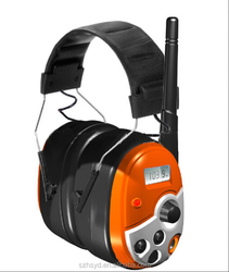 High Quality EN 352 cute Electronic safety hearing protection FM radio ear muff with bluetooth for adults