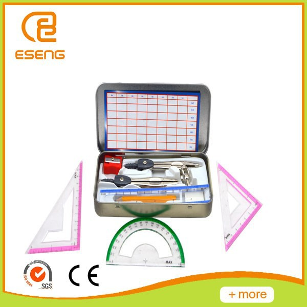 Compass, Divider, Pencil, Eraser, Scales Mathematic Set Box