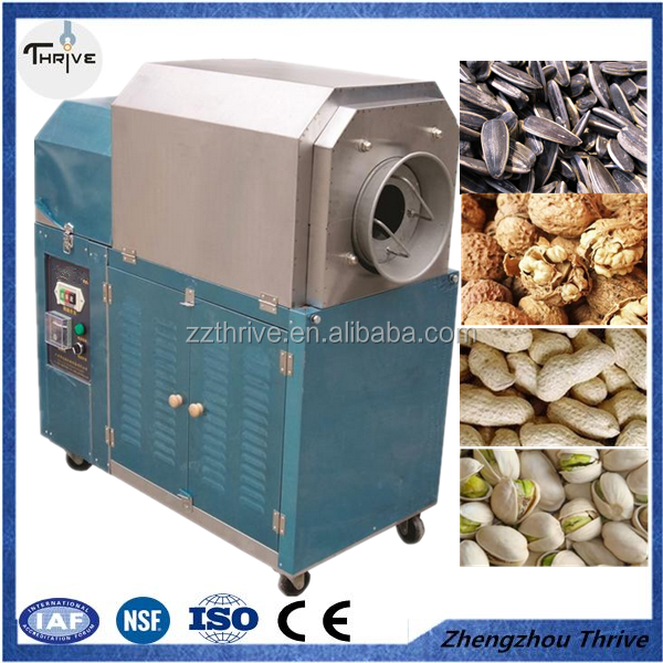Factory direct sale Commercial stainless steel gas baking machine sugar stir fry chestnut fried peanut seeds roasting machine