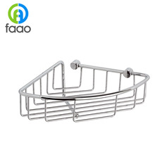 FAAO Triangle single deck bath shelf baskets triangle shaped