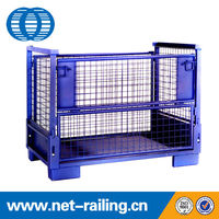 China collapsible metal wire steel pallet box container