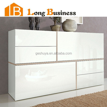 wholesale refined living room high gloss white sideboard buy high