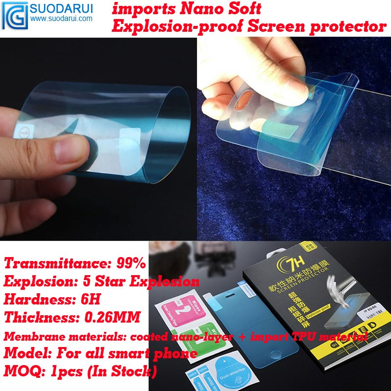 0.26mm 7H Explosion-proof soft Nano-coated Films for samsung galaxy E5 E500 screen protector