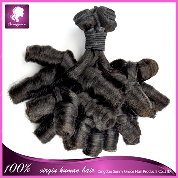 <strong>DHL</strong> Double Drawn 7A Nigerian Aunty Funmi Hair Extension Unprocessed Brazilian Virgin Spiral Curls Human hair Bouncy Curls Hair