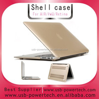 2014 Newest golden Matte plastic crystal hard case cover for macbook air ,for macbook air case