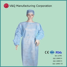 Nonwoven orient factory impervious isolation gown