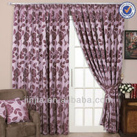 Polyester linen windwos sheer curtains drapery