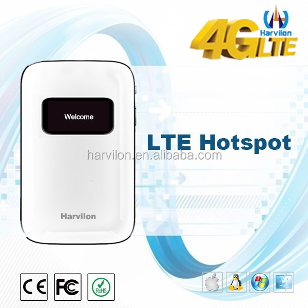 Customized 4G LTE portable wifi router with SIM card slot & optional external antennas