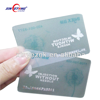 pvc plastic business card printing
