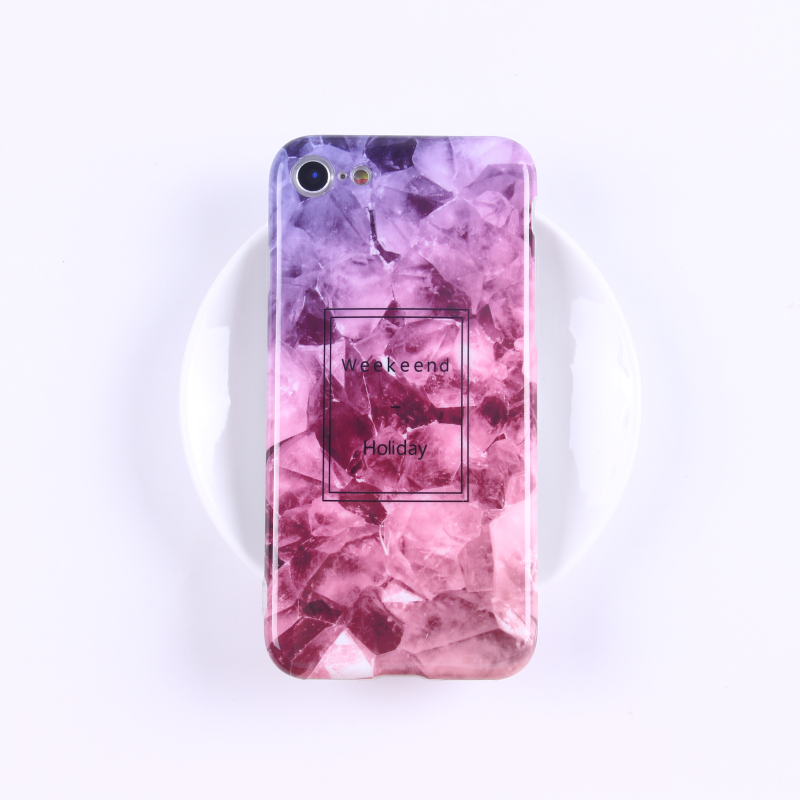 2018 Custom design covers cell phone case imd phone accessories TPU marble case for iPhone 8