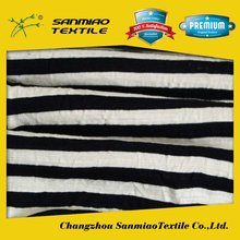 SANMIAO Brand best quality cheapest silk stripe black and white fabric SBWHCP-165