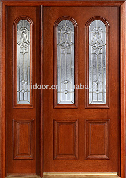 Puertas de madera con vidrio puerta de cristal de a travs de puerta de cristal de hoja de - Puertas principales de madera ...