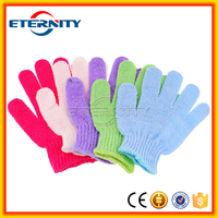 China good quality material shower wash bath glove