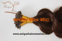 100% Human Virgin Remy U tip keratin pre bonded hair extension