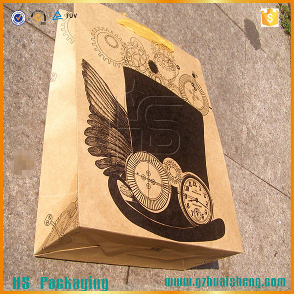 China custom made recycled brown craft paper bags / package bags / shopping bags