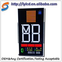 Liyuan custom LCD 7 segment LCD display with high contrast ratio