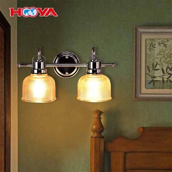 2 Head Antique Wall Mounted Vanity Lighting Fixture Wall Sconce Bathroom Vanity Lamp