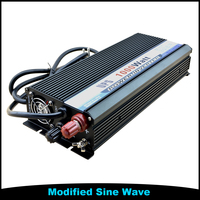 Single Output 1000W 1KW DC To AC UPS 12V 220V Modified SIne Wave Power Inverter With Battery Charger