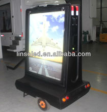 Outdoor Fexible Moving Advertising LED Sign Scooter Trailer, Mobile Advertising Sign Box Motorcycle
