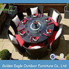 Luxurous and popular outdoor round 6 seats rattan table
