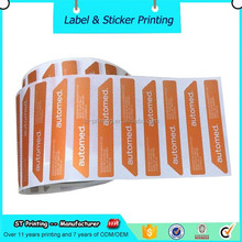 Custom thermal label color coded tag labels sticker adhesive