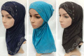 muslim glitter two peices hijab islamic fashion hijab ML089