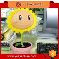 PVZ Plants vs Zombies cute sunflower table lamp lovely cartoon charging lamp light