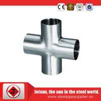 High-precision 4-way cross stainless steel pipe fitting