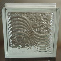 Clear Sea Wave Glass Bricks for Building Decoration