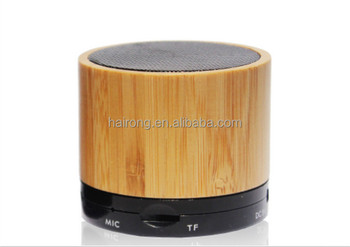 new products 2017 bamboo mini bluetooth wooden speaker computer loudspeaker subwoofer speaker box amplifier support TF FM
