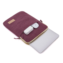 Wine Red Canvas Water Resistant Tablet Laptop Sleeve