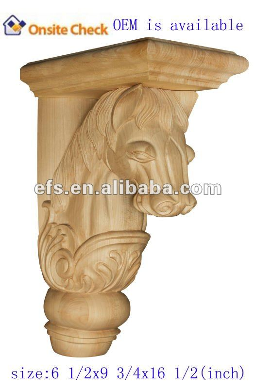 antique delicate animal wood carving corbel(EFS-YCY-062)
