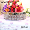 2018 New Royal crystal round cake stand for home & party & hotel & banquet & wedding decoration wedding cake stand (CAKE-003)