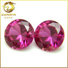 made in Wuzhou high quality good polished round brilliant cut 8mm synthetic ruby
