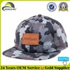 Custom Leather Logo Camouflage Cap/Camo Flat Bill Hats Caps/Camo Hats
