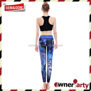 China Supplier Sexy Yoga Pants Women Leggings Printing Sport Pants Running Workout Clothes For Women Yoga