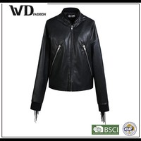 Fashion girls plain unique trendy motorcycle jackets