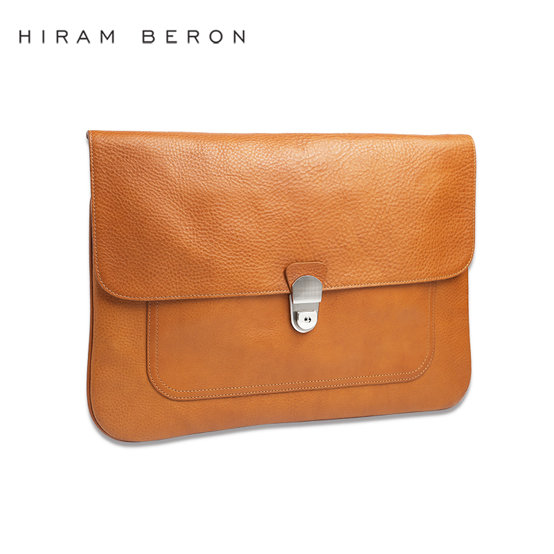 New ! Italian vegetable tanned leather clutch bag men with custom brand service