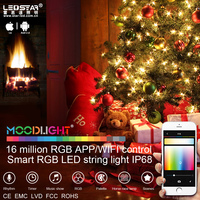 Christmas 2016 new product! smart APP wifi control christmas string light, 16 million RGB, IP68 waterproof