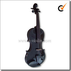 Colorful Solidwood 4/4 Electric Black violin With Case (VE500)