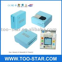 Blue Mini USB All in 1 SD XD Memory Card Reader