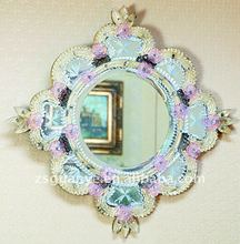 New Design Murano style crystal framed mirror, crystal beaded mirror, murano mirror wholesaler