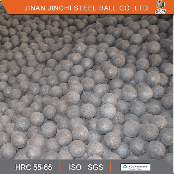 Forging grinding ball in ball mill