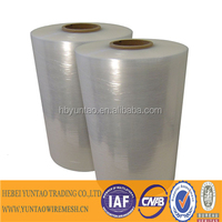 Plastic stretch film, extensible, palletizing and stretchable